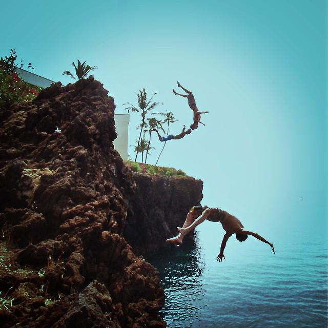 Because three backflips are better than one #mygoodpeople #backflip #cliffjumping #hawaii #goodpeople #goodpeoplelife