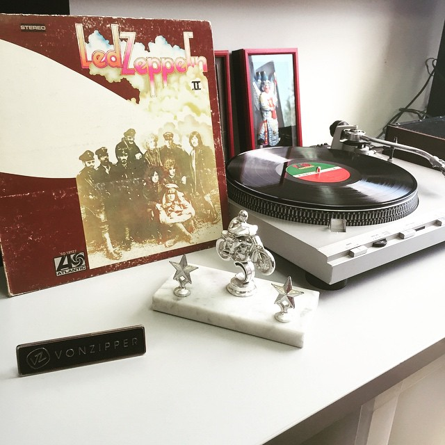 In honor of next month's remastered releases, we plan on getting the Led out this afternoon #LedZeppelin II #TurntableTuesday #VonZipper