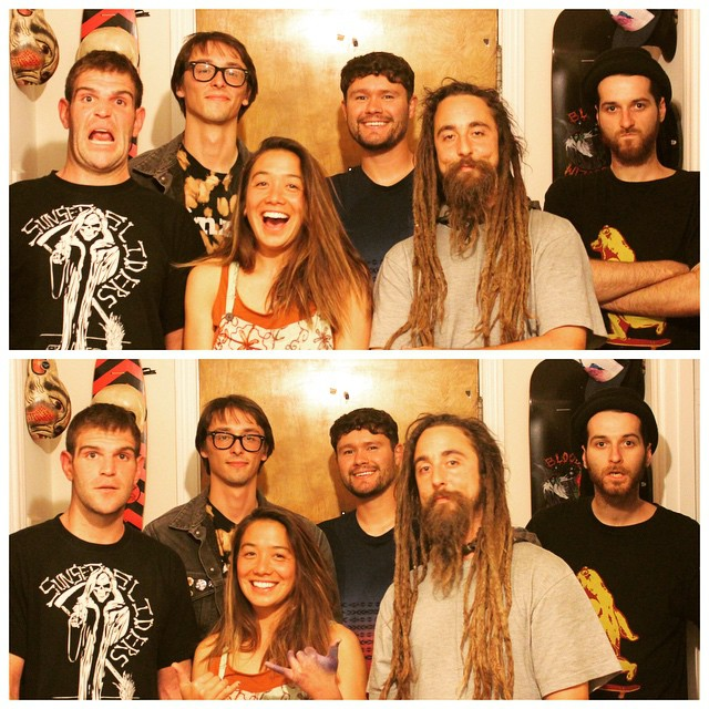 Team Bonzing!!!! The most radical creative crew of skaters!  @ragnars_world @yvonzing @mcarsonlikescats @adrian_da_kine @austin_bonzing #deadfred  #bonzing #sanfrancisco #skateboard #shapers #artists