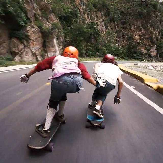Go to longboardgirlscrew.com and check LGC Colombia's Ambassador @chelagiraldo fun runs with @tanarohrer in Monterrey, Mexico!  This is how much fun we have