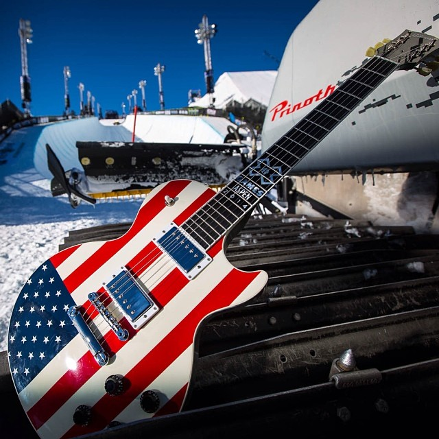 How rad is this @Gibsonguitar? One lucky fan here at #XGames got to walk away with this.