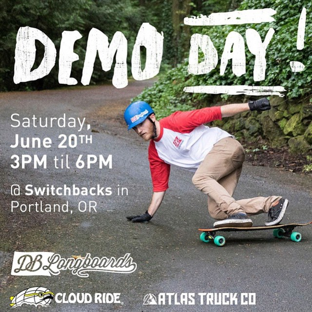 This Saturday we are having a demo day at Switchbacks in Portland! Come try out the Keystone! #portland #longboard #longboarding #longboarder #dblongboards #goskate #shred #rad #stoked #skateboard #skateeveryday