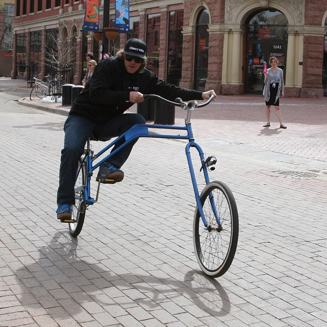 @aporzak1 turnin' heads with the swing bike #getoutthere #adventureworthy