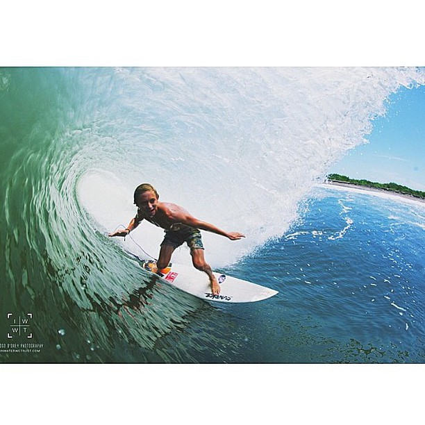 Grom Feature of the Day - Meet @cameron_ns slicing over head booms in #nicaragua on a 5'0.