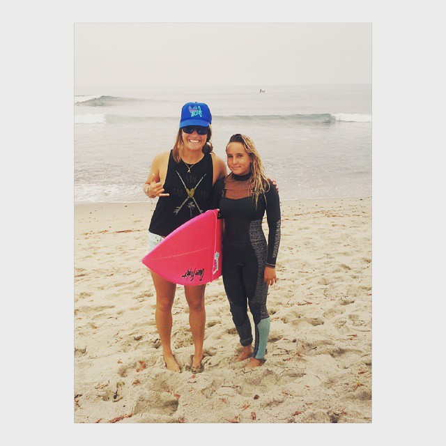 Kellyanne here with team rider @surfgypsy aka Hannah ripper shredder Blevins! Stoked to support her at @surfingamerica  2015 USA Championship.  #luvsurf #gromtakeover #trestles #lowers #surfcomp