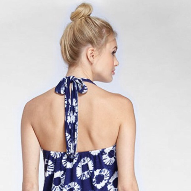 High buns + halter tops. We have all you need for #summer #stylecrush #wcw #humpday #sustainable #style #fashion #batik #tiedye #getready