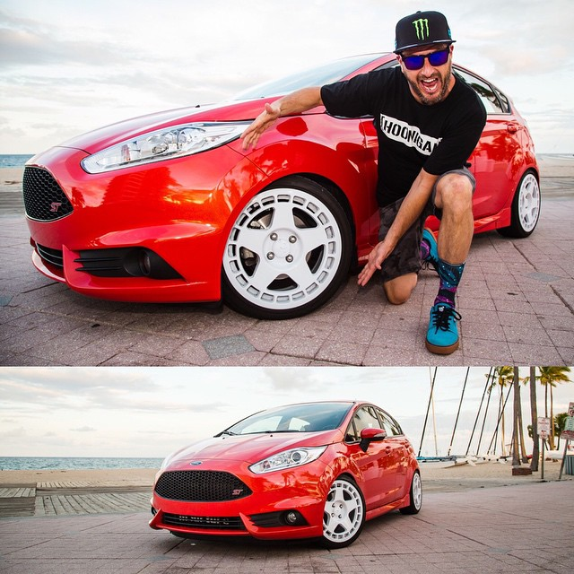 My signature @fifteen52 Turbomac wheels aren't just made for my racecar. You can run them too! Here they are on @1552_Brad's Ford Fiesta ST project car. Check out their website for both forged and cast versions. #groupbinspired #FiestaST