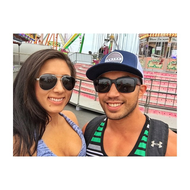 Hoven team water photographer @nm_sc_photography and #hovenhunny @samdiego_628 looking great in their Hoven shades! #teamhoven #hovenvision #delmarfair #deepfriedeverything
