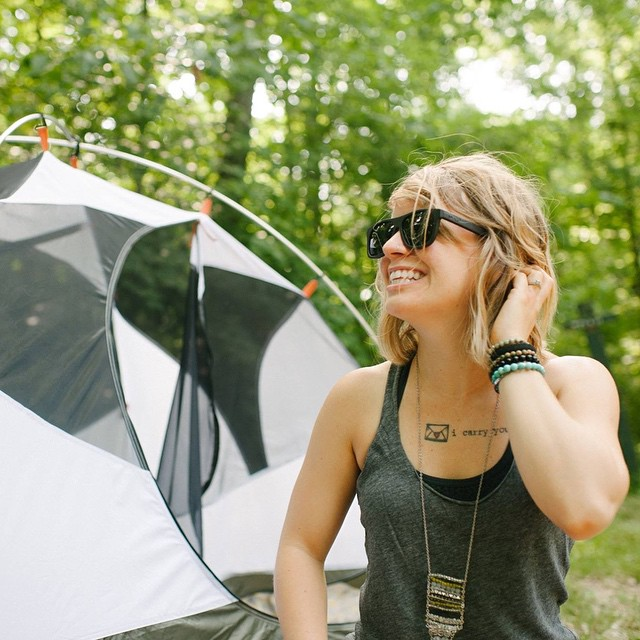 A happy camper for your Thursday morning // @aubreyyrenee in The Cascade #natureofproof