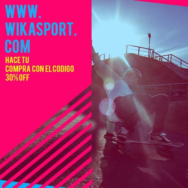 De a poco ya llegando el fin de semana! Aprovecha para comprar lo mejor de #WikaSport !  Utiliza el código de descuento 30%off al finalizar tu compra!  #Longboard #longboarding #longboards #longboarder #longboardlife #longboarders #longboard4life...