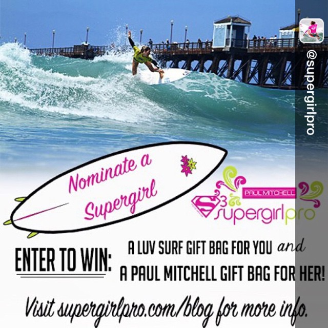 Repost from @supergirlpro via @igrepost_app, Here's your first chance to win! Head over to supergirlpro.com/blog for all the details on how to win a @Luvsurfapparel Gift Bag for you and a @paulmitchellus Gift Bag for her! #SupergirlPro