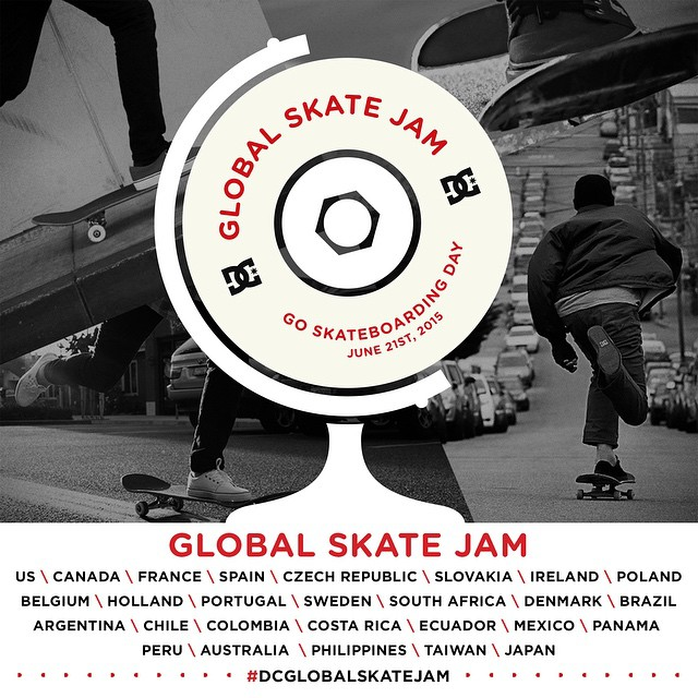 Sunday is #goskateboardingday and we're hosting more than 30 Skate Jams around the world. Will you be joining us at one? Go to dcshoes.com/GSD for details. #dcglobalskatejam #DCshoes