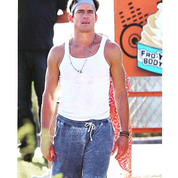 Anyone else wish this #tbt pic were a #flashforward?! @MattBomer1977 looking great in our Sweat Short #onset for #magicmikexxl! #comingsoon #july1 #cantwait #throwbackthursday