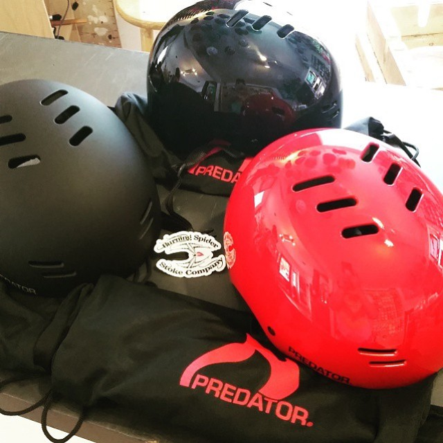 @burningspiderjoeb just got some of our new #SK8 helmets! If you're in Kansas City and looking for a low profile and super lightweight lid, be sure to stop by and pick one up! #burningspider #kansas #SK8 #originalpredatordesign