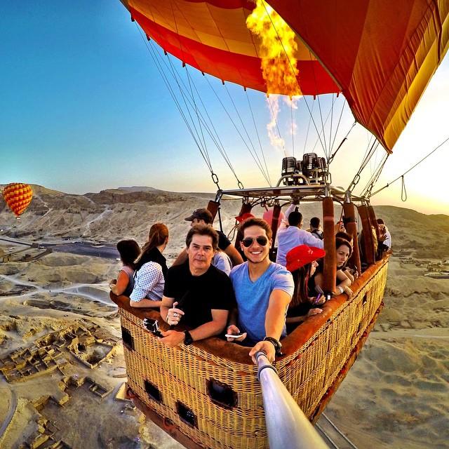 Hot air balloon ride over Egypt! Photo: @lohran GoPro HERO4 | GoPole Reach #gopro #gopole #gopolereach #hotairballoon