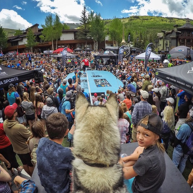 In honor of the epic #GoProMtnGames weekend we're giving away a HERO4 Silver, Fetch, 3-Way mount and a Smart Remote to 3 lucky fans! To enter, share your best hashtag that captions this photo in the comments section for a chance to win! #ReadyGo...