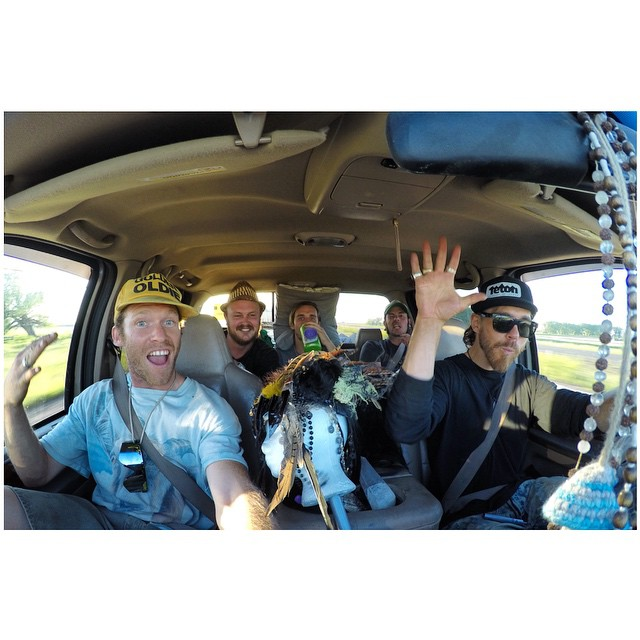 "Rollin' deep!  Panda co-founder Oakley White-Allen takes the wheel earlier today, while Panda chief TanSnowMan rides shotgun en route to Rothbury, Michigan, as they join The JenkStars to build the ""Illuminarium"" at Electric Forest Music Festival!..."