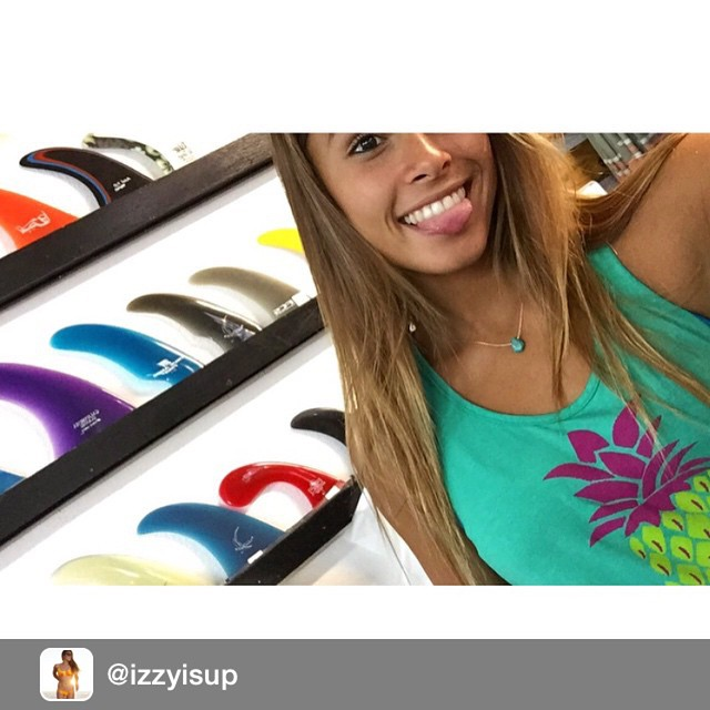 Repost from @izzyisup. Turquoise Necklace from @SaltyCaliJewelry goes perfect with my @LuvSurfApparel pineapple tank