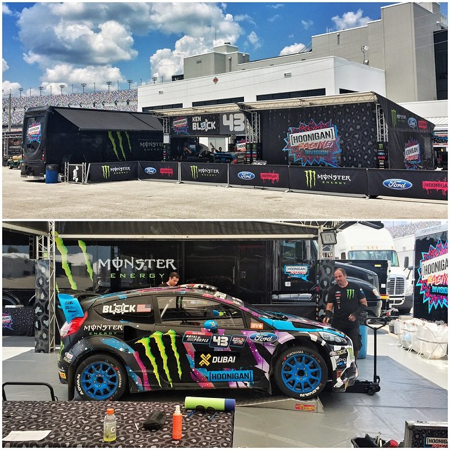 Greetings from our service area right in the middle of Daytona International Speedway. Double header race this weekend! On today's race menu: two practice sessions, qualifying, and one set of race heats. #GlobalRallycross