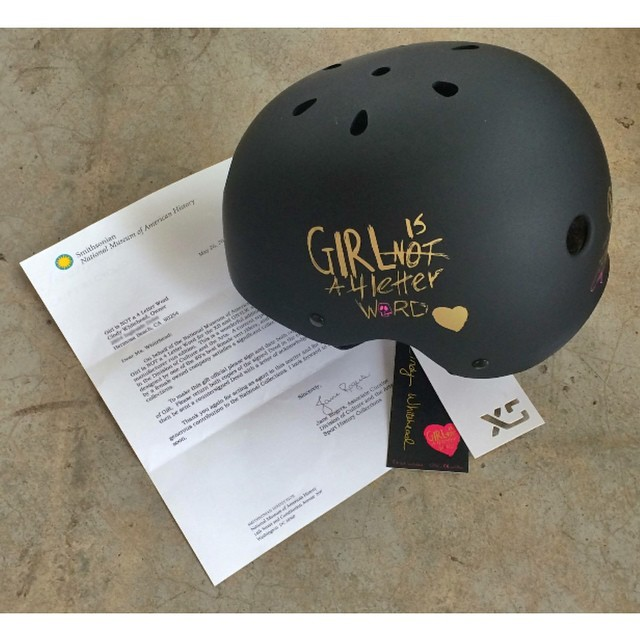 Together with Cindy Whitehead of @girlisnota4letterword, we are truly honoured to have been asked to donate our XS x GN4LW helmet to The Smithsonian Museum of American History. Cindy was there to complete the donation and the helmet now joins the...