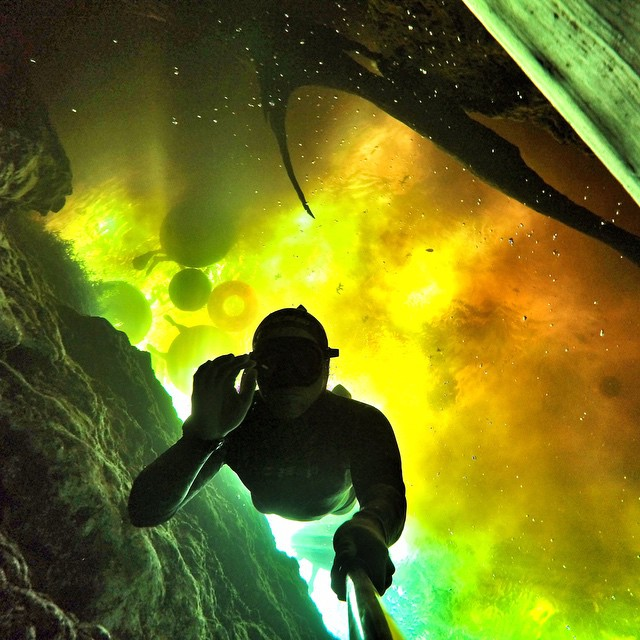 GoPro Featured Photographer - @waterlust  Caption Contest – Caption this for a chance to win a GoPro HERO4 Black.  Where it happened: Deep in the caves of Ginnie Springs, crystal clear water from the Floridan aquifer flows up from the ground where it...