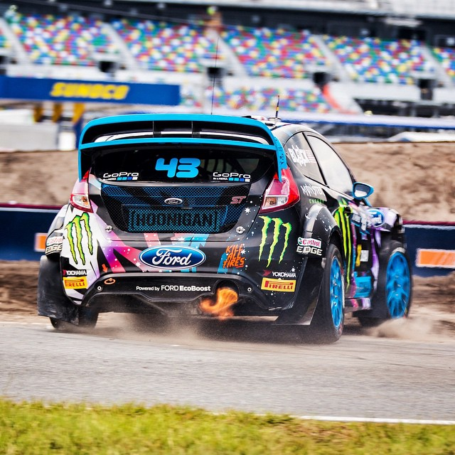 Second fastest in practice here at #GlobalRallycross Daytona! About to start qualifying. #antilagftw