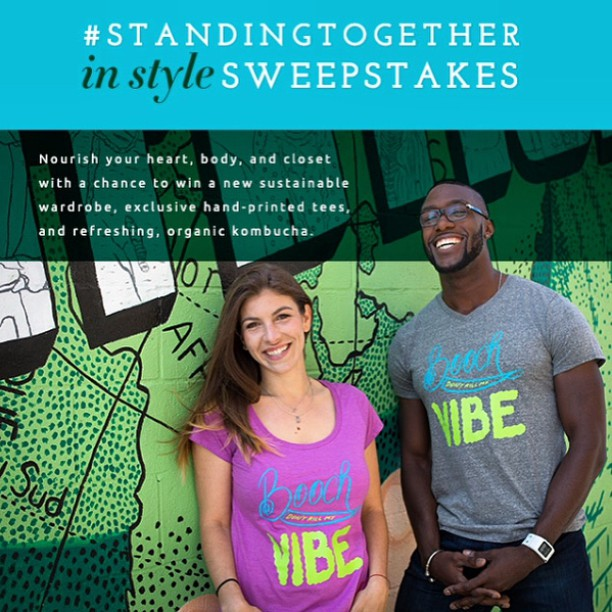 We're #standingtogether with @clearlykombucha to support @theirc and #NewRoots! Stand with us and enter to win up to $250 to shop our site + a week's supply of Clearly Kombucha! #contest #support #worldrefugeeday #standwithus #summer #sweepstakes #winning