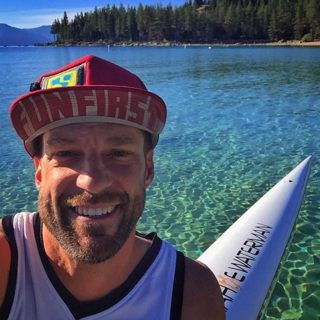 "#FunFirst on a ""Meeks to Emrald Bay"" OC1 hot lap on Tahoe this AM w/ SUP #MegaStud @AdamFreeman | #StokeAbounds | #HighFivesAthlete | @bigtruckbrand | #ChoosePositivityNow.com"