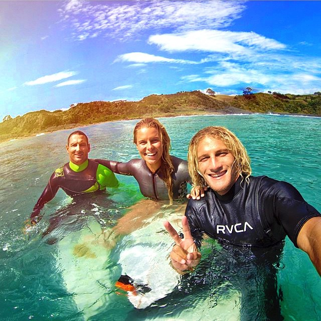 Happy International Surf day! Get $10 off all Floatable Sunglasses when you use promo code HANGTEN at checkout! Today only!  Our girl @paigehareb rides with other kiwi legends @maz_quinn & @ricardochristie!