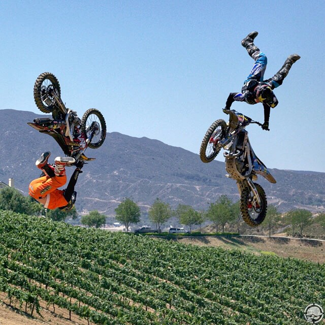 Who are you riding this wknd? @JFitzo and @GarlandFMX are hangin