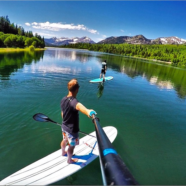 It's the weekend! #GetOutside and enjoy! @hukesnow #SUP in Utah. #GoPro