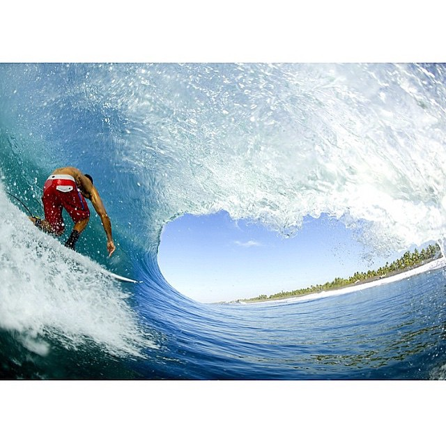 Happy International Surfing Day! Hopefully you're somewhere getting as barreled as @corylopez is here.
