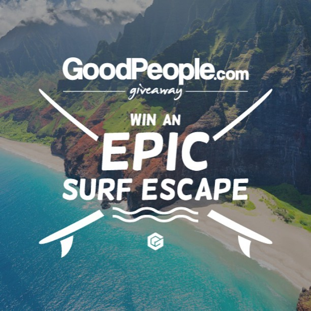 Today is International Surfing Day and we're stoked to launch an #EpicSurfEscape Giveaway.  Enter to WIN (link in profile) 2 Round Trip Flights to Oahu on @AlaskaAir plus a ton of awesome surf gear & apparel from the GoodPeople Shop...