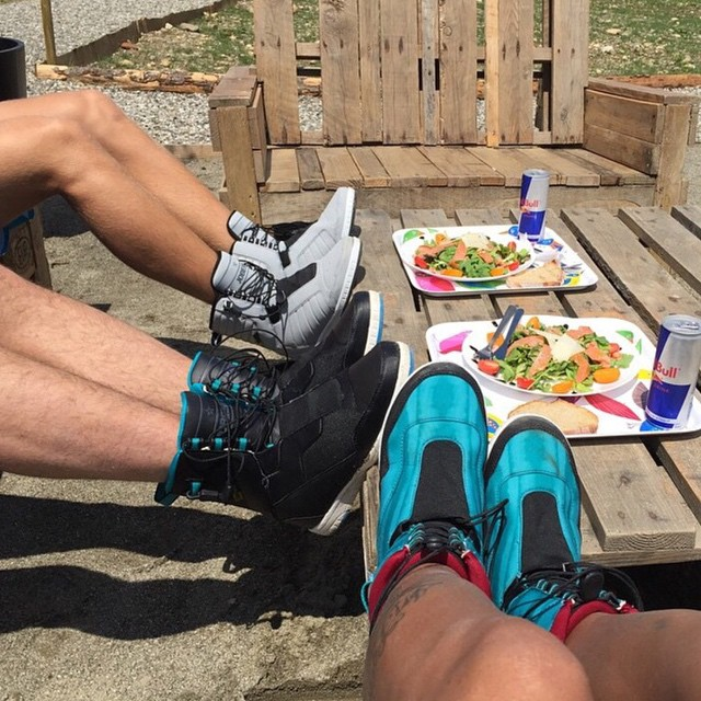 The #JobeEVO sneakers are comfy, even during lunchtime! #sneakers #wakeboarding #jobeevo