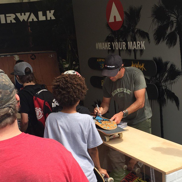 Want to meet @andymac720? Head to the #Airwalk booth at #DewTour now! #makeyourmark