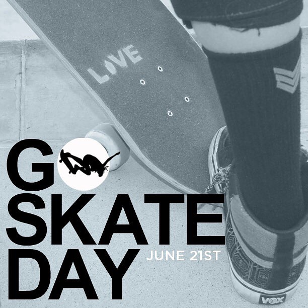 What are you waiting for? Tomorrow is #GoSkateDay! Get out there and shred it. #ladiesofshred #thankyouskateboarding
