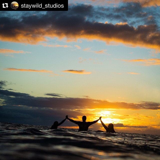 "Happy #InternationalSurfDay to you and yours, and ""#StayGold #PonyBoy""!!! This #Repost from @staywild_studios is from a magic #aloha moment in the healing waters off #Maui's south side, w/ @laurel.winterbourne & @theprettyyogini 
