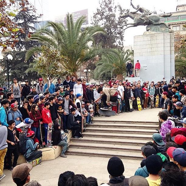 #DCGlobalSkateJam going off in Santiago, Chile!! Happy #GOSKATEBOARDINGDAY! Photo:@patineta #DCShoes
