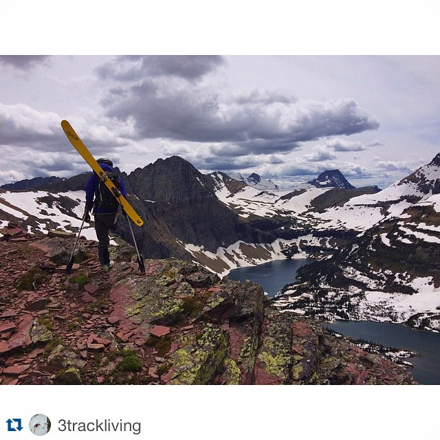Happy Summer Solstice! @3trackliving signaling in summer with a tour in @glaciernps. #dpsskis #summer #skiing #SummerSolstice #AdaptiveBackcountrySkiing