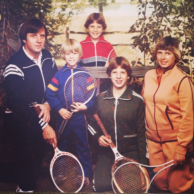 Happy Father's Day from my family to yours!! #tennis #family #fathersday #1978