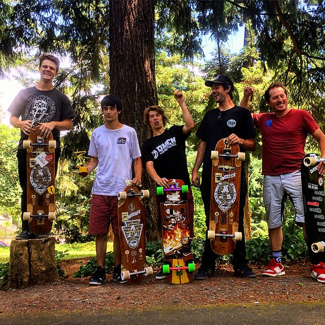2015 #switchbacksseries Number 1 went off without a hitch, and the race heats were outstanding! Brandon Tissen was the returning champ and didn't let anyone take away his crown! @arborcollective @arborskateboards @pdxdownhill @omenlongboards...