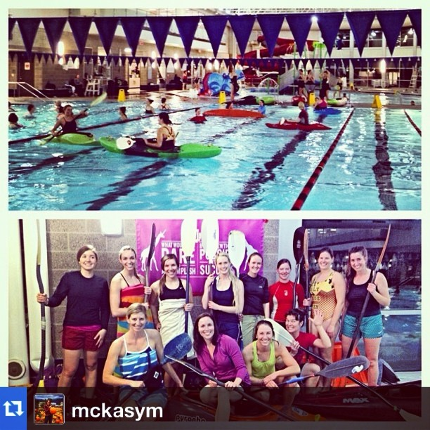 #Repost from @mckasym. Learn to kayak night was a success in SLC! Where would you like to see another #GTGO event? #shejumps #jumpout #kayaking #SLC