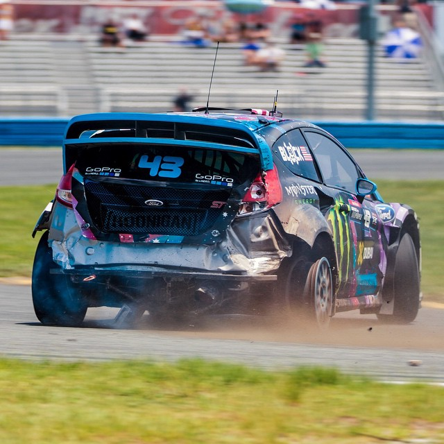 After winning each heat and semi-final yesterday, @kblock43 got unfortunately caught up in a turn on the final, causing a spin (and a wheelie) that left his #RX43 Fiesta down a tire. Did the #HHIC call it quits? Nope, in true #justaintcare fashion, he...