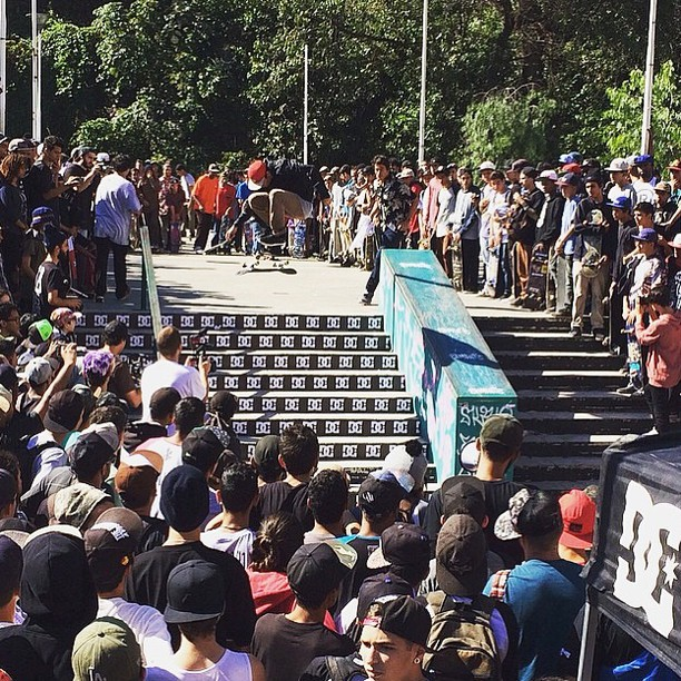 Awesome turnout today in São Paulo, Brazil for the #DCGlobalSkateJam! Some insane skating went down! Thanks for coming out! Photo: @robsonreco #DCShoes