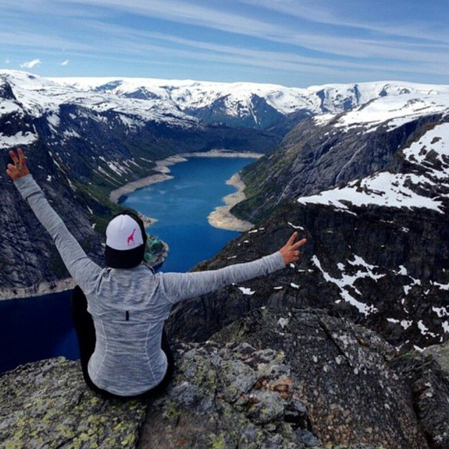 #Regram from @jfitzayy. At Trolltunga, Norway. Wow. What did you do this weekend?