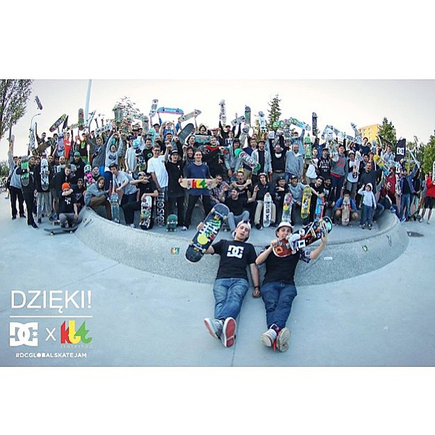Warsaw, Poland got in on the fun today, too! Thanks to @Kbtskateshop and everyone who came and skated with us as part of the #DCGlobalSkateJam! #DCShoes #goskateboardingday