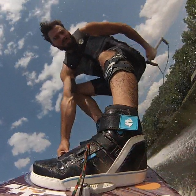 Our man @markrugala having some fun for all the dad's out there this #fathersday #wakeboarding #cooldadsbuyhumanoid