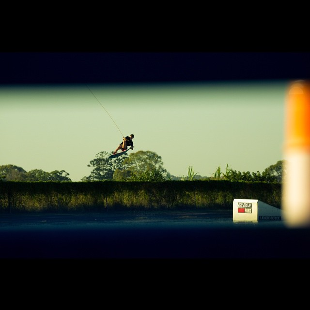 @jacobvinall shooting with @mitchlangfield at @blibliwakepark.  Go check out the new #whateverman edit on @unionwakeboarder too! #wakeboarding