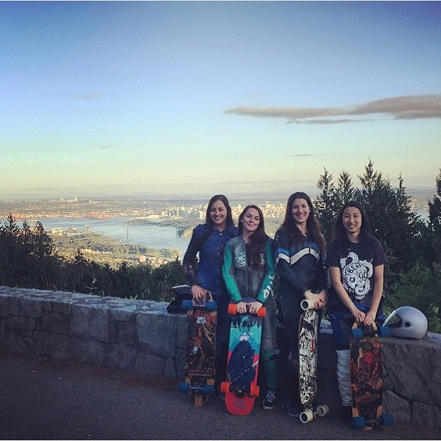The girls have been ripping it up all weekend in Canada!  YES.  @kbeaaat @annaoneill @briannedavies @lisasauruss you all rock.  #longboardgirlscrew #girlswhoshred #skatelikeagirl #womensupportingwomen #canada