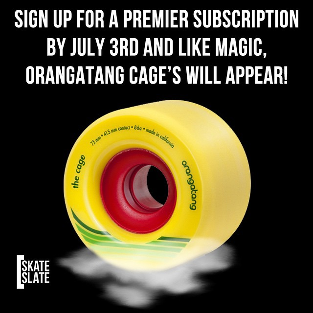 @skateslate​ +  #TheCage = fuel for summer fun!  Learn more at  skateslate.com (link in bio). #skateslate #orangatang #orangatangwheels #readingpaysoff